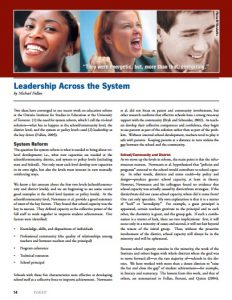 Leadership across the system