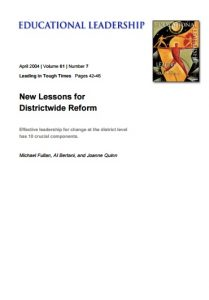 New Lessons for Districtwide Reform