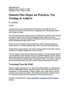 Ontario Pins Hopes