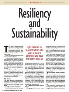 Resiliency and Sustainability